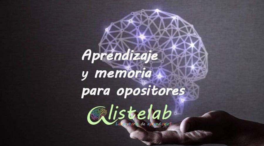 Aprendizaje y memoria para opositores. Curso online.